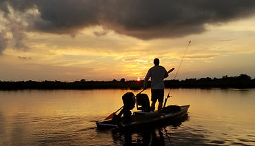 Sunrise kayak charter fishing new orleans, louisiana