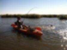Woman kayak charter fishing New Orleans Louisiana