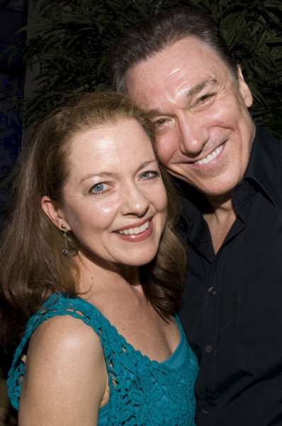 Isabel and Patrick Page (Isabel wearing green to honor his final Green Goblin performance in Spider-Man Turn Off the Dark