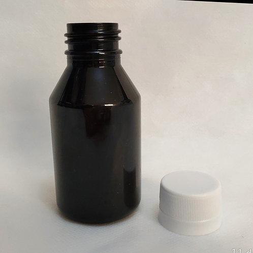 Frasco Âmbar 100ml Pet Farmacêutico com Tampa Lacre Branca Rosca 28