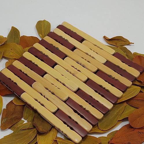 Descanso de Panela em Bamboo Quadrado