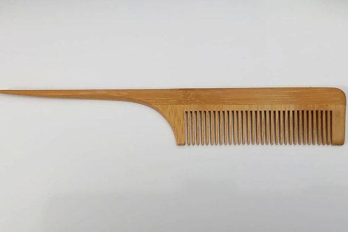 Pente De Madeira Bambu Oriental 20,5 X 3,5 cm