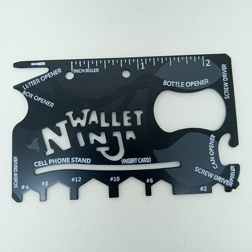 Cartão Ninja Wallet Ninja - Cartão Multifuncional 18 em 1