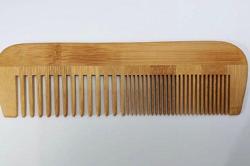 Pente De Madeira Bambu Oriental 17cm X 5cm