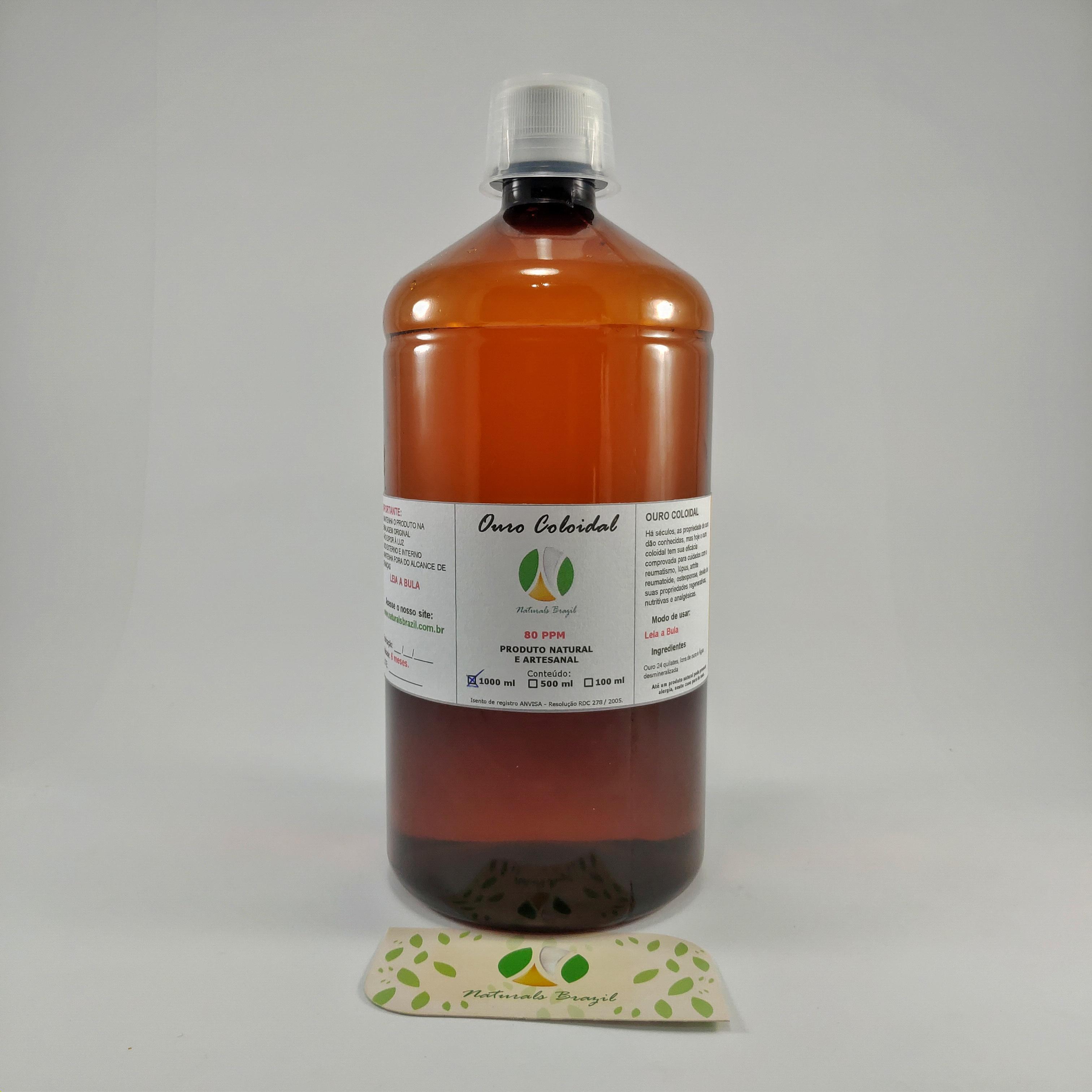 Ouro coloidal 1 litro