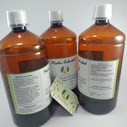 3 Unidades de Prata Coloidal 20 Ppm 1l Naturals (pronta Ingerir)