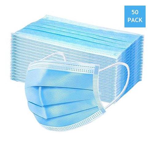 Máscara Cirúrgica Descartável Tripla com 50 unidades