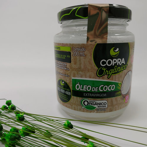 Óleo de Coco 200ml Orgânico Extra Virgem Copra