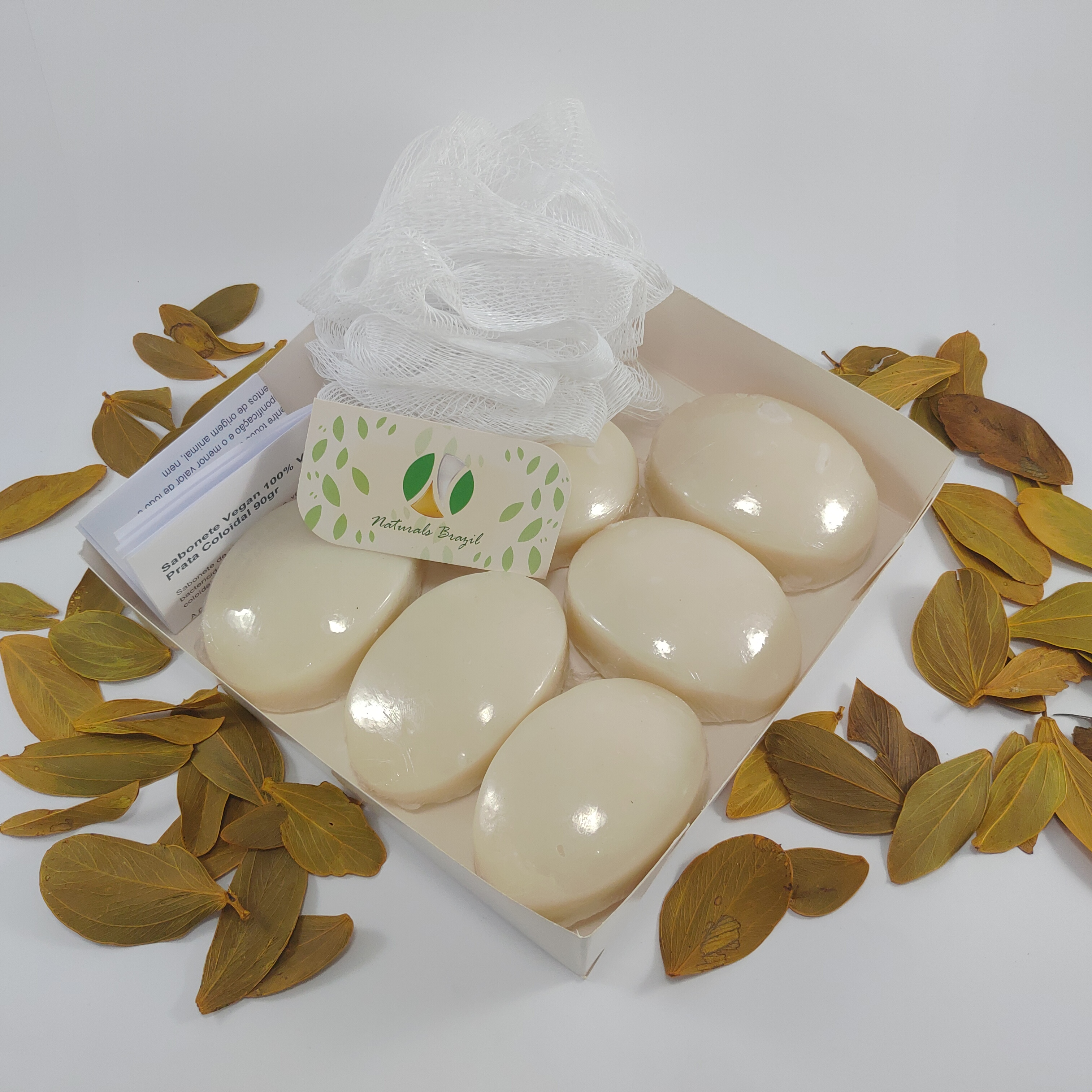 Kit 6 sabonetes com prata coloidal