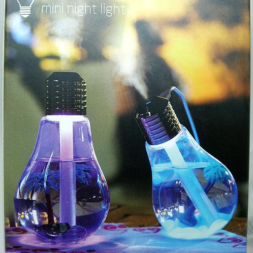 Lâmpada Climatizador Umidificador Aromatizador De Ar Led Luz