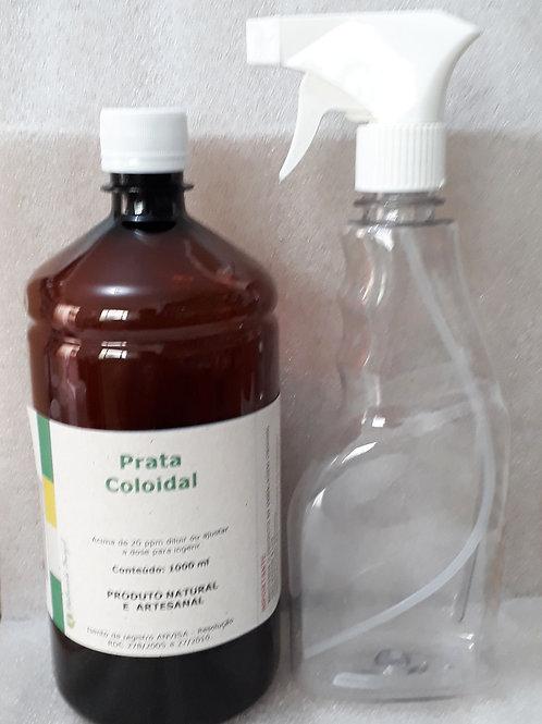 Prata Coloidal 30 Ppm 1000ml  com pulverizador  Naturals Brazil