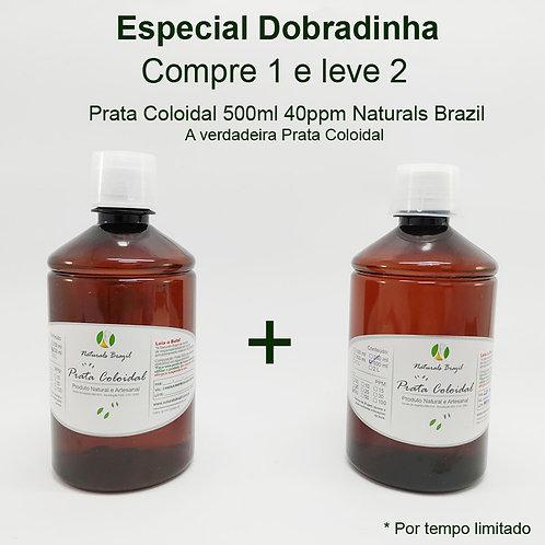 Dobradinha - Prata Coloidal 40 Ppm 500ml Naturals Brazil  Compre 1 leve 2