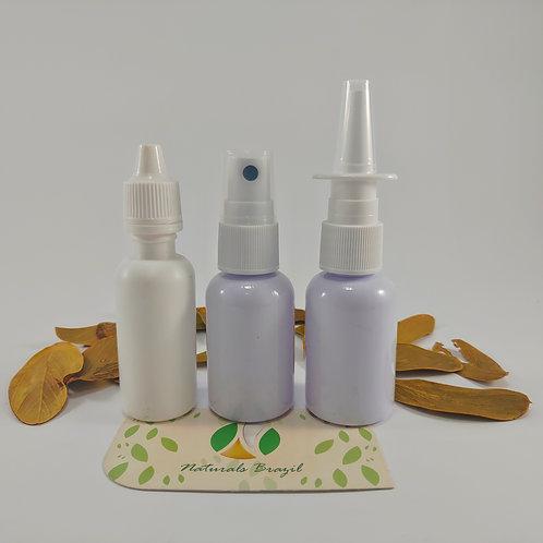 3 Frascos Pets: Spray, Spray nasal (30ml) e Gotas (20ml)c/válvulas e conta gotas