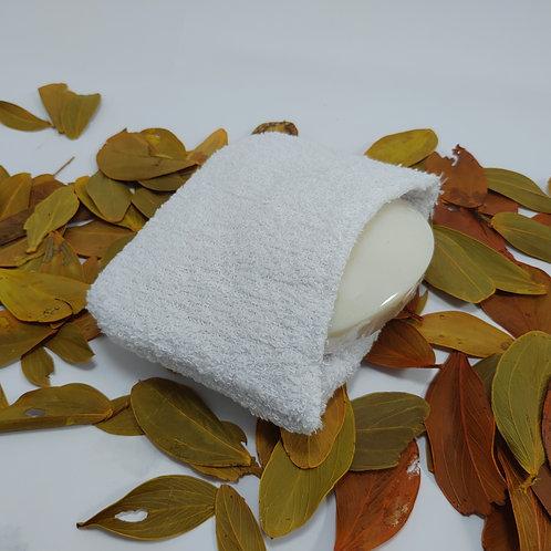 Bucha Atoalhada de Banho com encaixe para Sabonete Cores Diversas