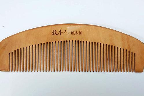 Pente De Madeira Bambu Oriental 16 x 5cm