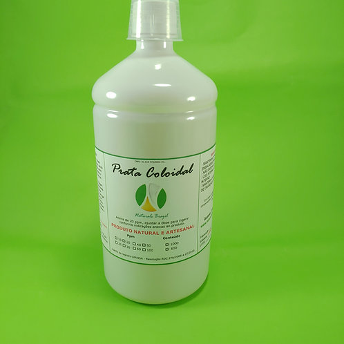 3 Unid. Prata Coloidal 20 Ppm 1l Naturals Pet Branco (pronta Ingerir) Lote Limi
