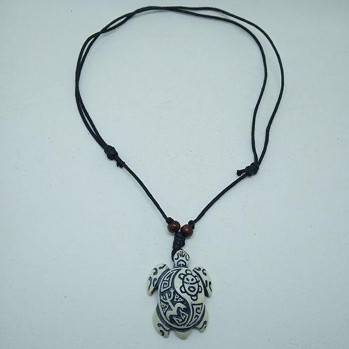 Colar Tartaruga Amuleto Tribal Totem de Cordão