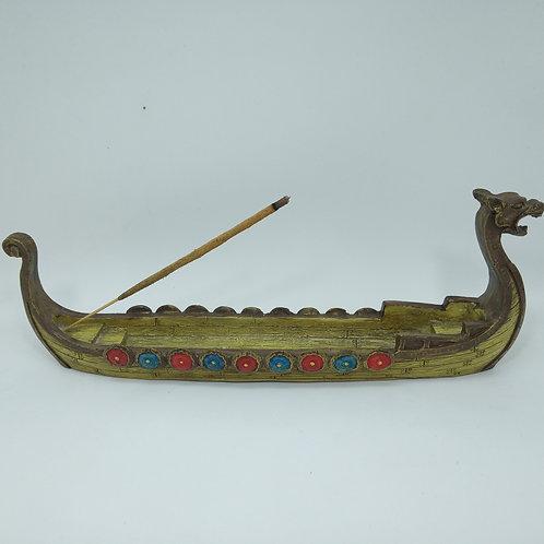 Incensário Barco Viking de Dragão - Porta Incenso