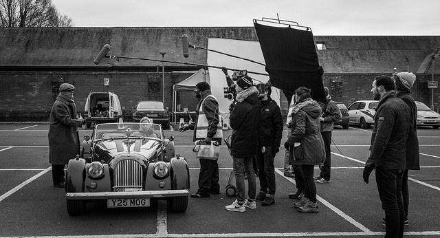 Filming of 'The Car Washer'
