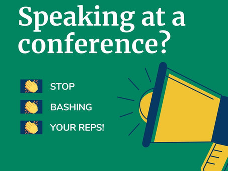 Speaking at a conference? Bashing your sales team is NOT a good look!