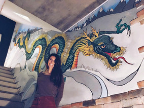 Wall Mural // SNOW DRAGON // Hakuba Japan