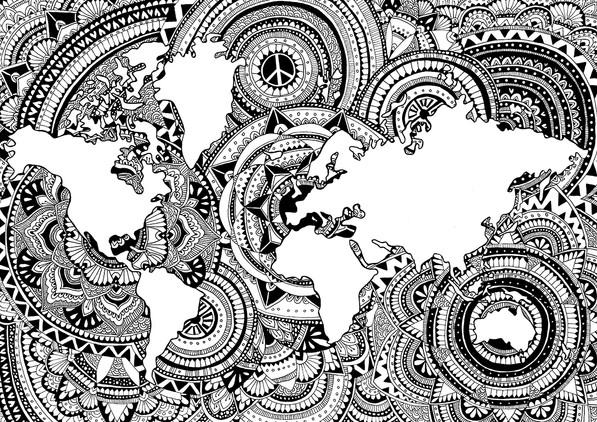 MANDALA world map