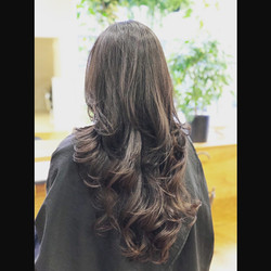 long hair with layered
