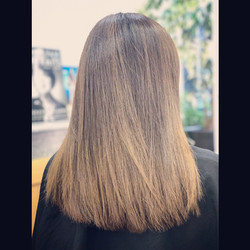 long layered haircut with colouring