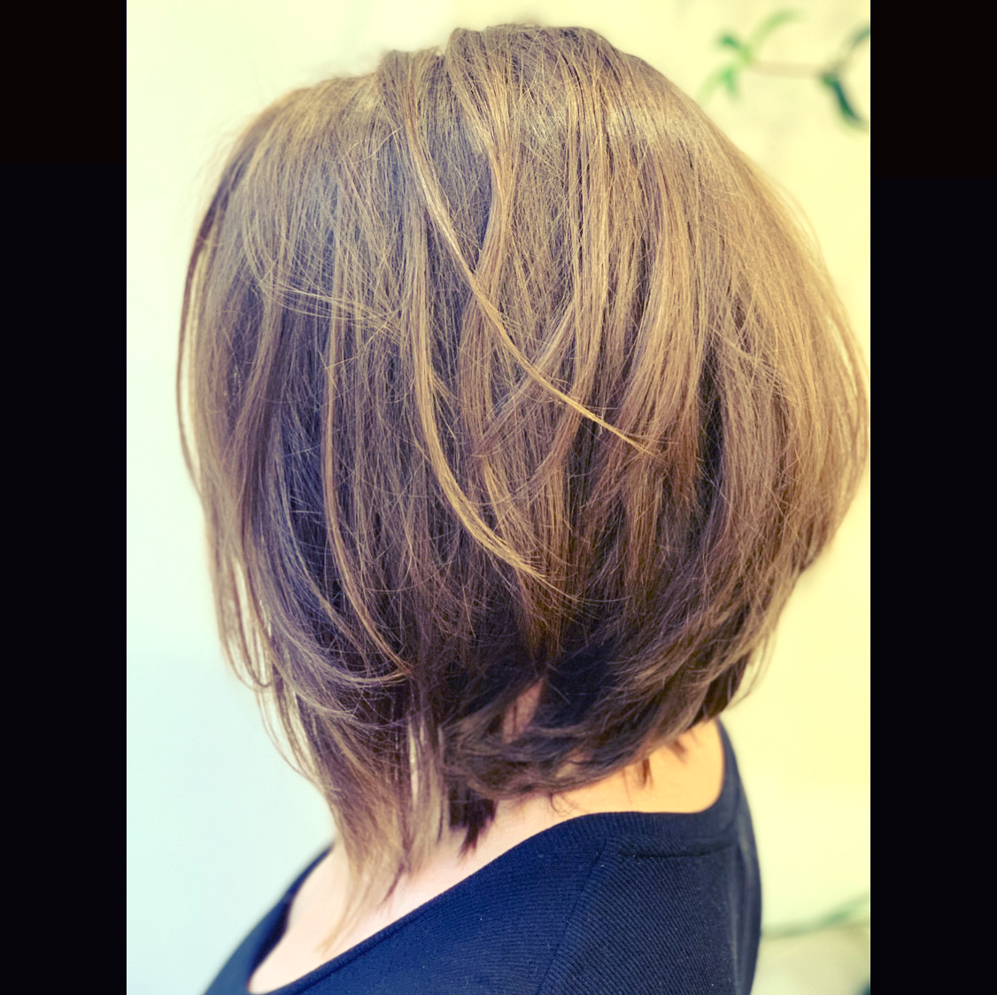 long bob with layers