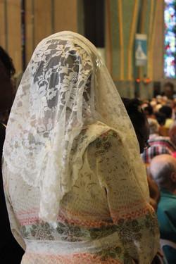 Haïtienne en prière