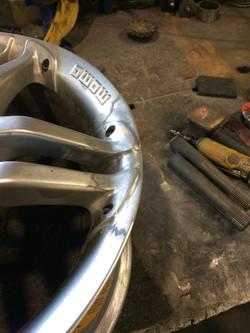 Custom piece welded to repair