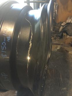 Crack welded