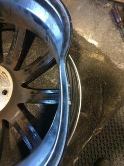 Damaged rim - bent and cracked