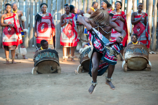 Bewitching dance by a member of the Sibahle Ngemasiko Cultural Group, during a performance in Swaziland