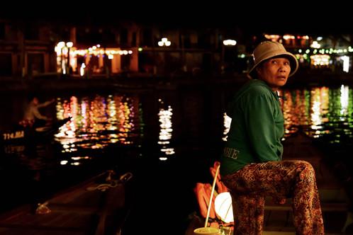 Lantern lady of Hoi An, Vietnam