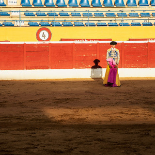 The lonely bull fighter in Marbella, Spain