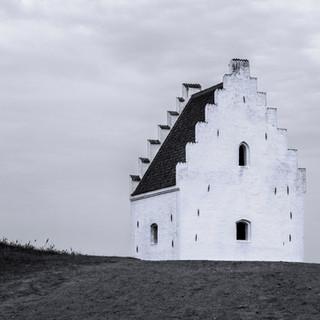 The sinking church of Skagen, Denmark