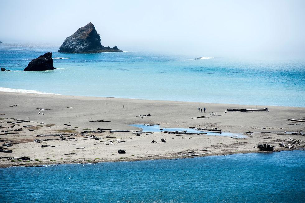 The coastline of Mendocino, California