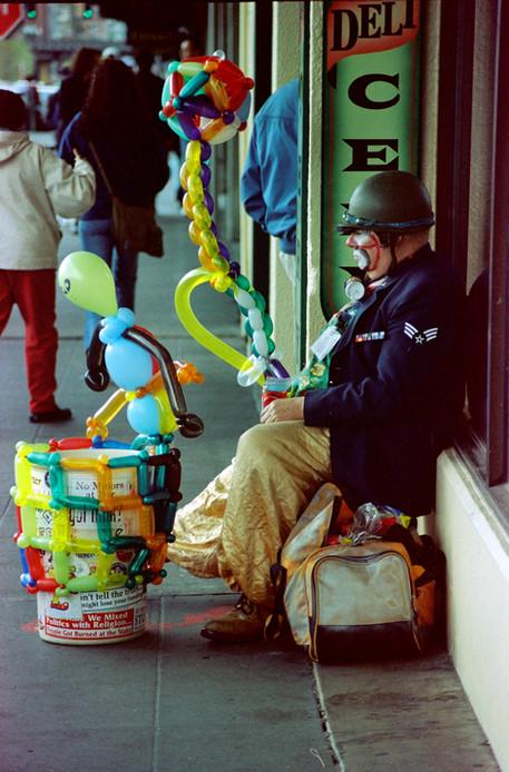 The saddest balloon man in Seattle, Washington (35mm film)