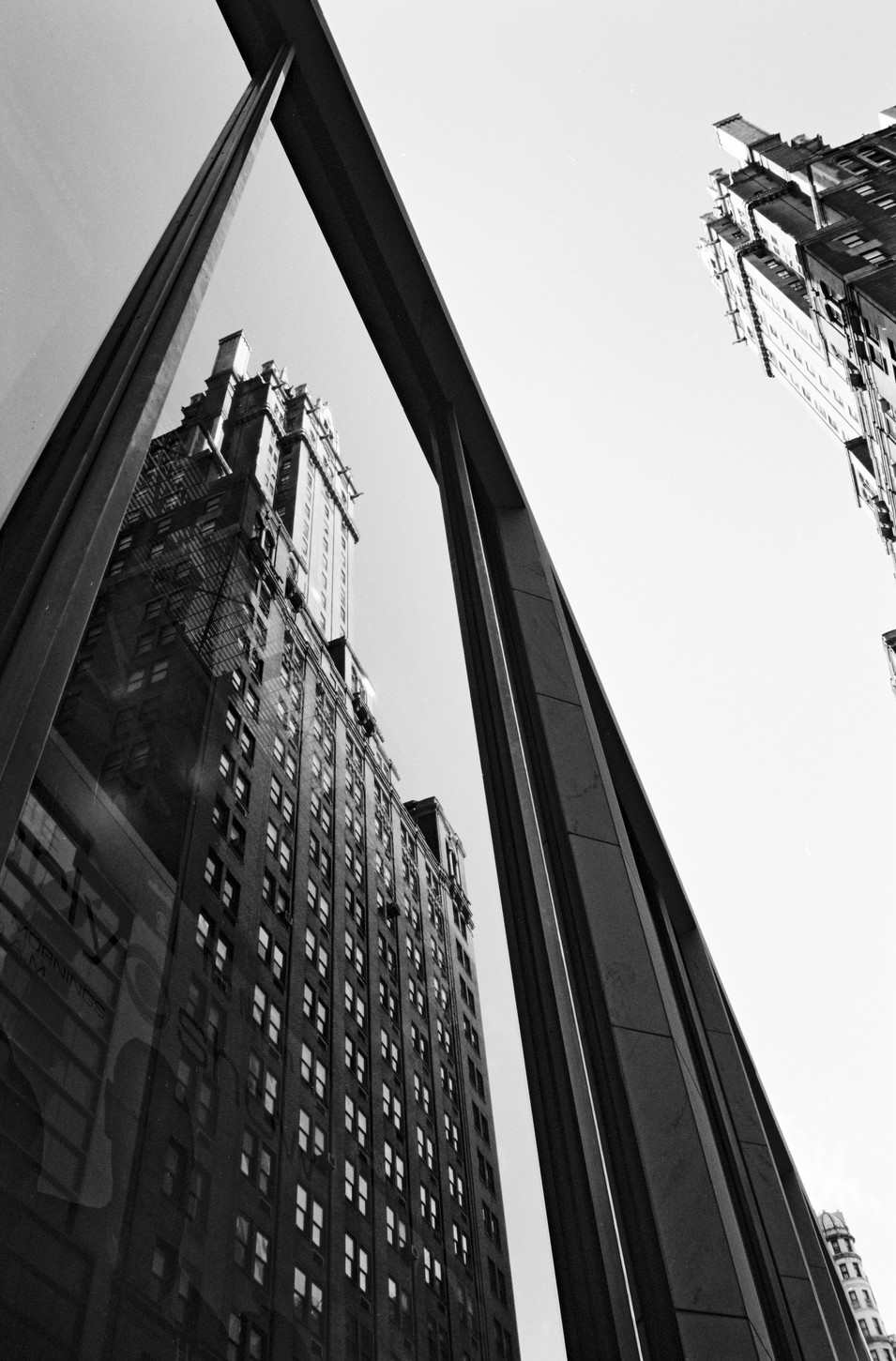 Imposing reflection in NY (35mm film)