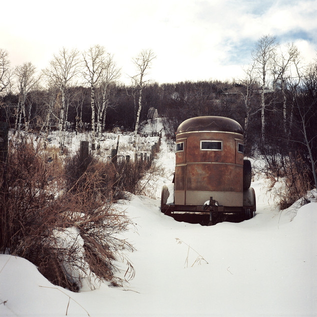Abandoned to the snowy landscape of Colorado (120 film)