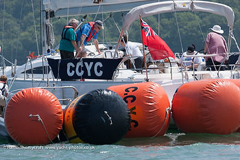 The CCYC Committee boat and sailing marks