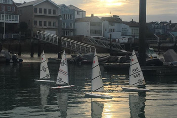 RC Lasers at the Cowes Corinthian Yacht Club in Cowes