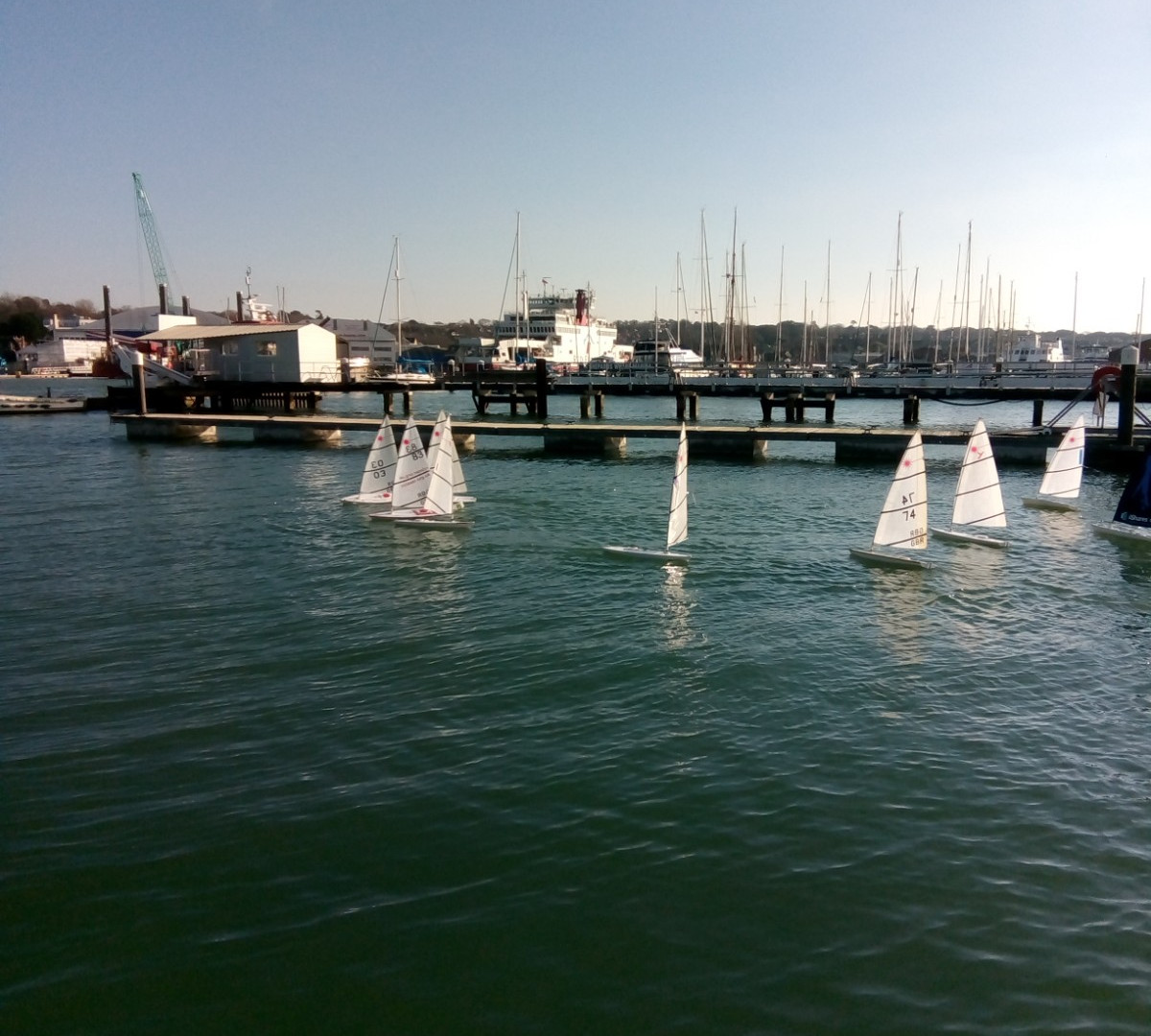 RC Laser Fleet at the CCYC