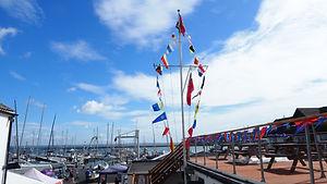 The CCYC flag mast