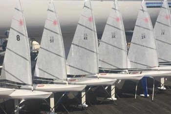 The RC Laser Fleet on the Apron at the CCYC