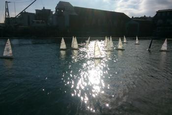 Racing the RC Laser Fleet