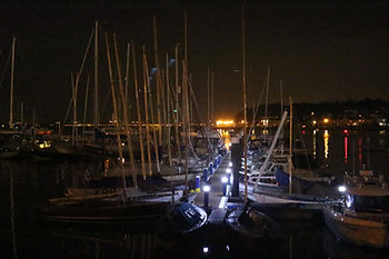 Night view of the CCYC Moorings