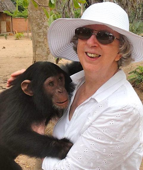 Nice Woman Holding Chimp