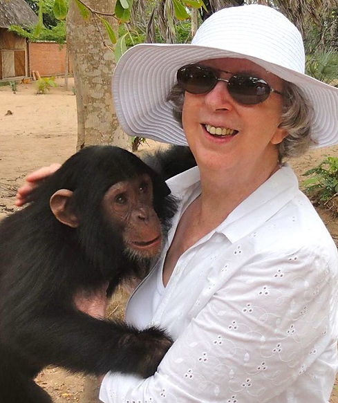 Nice Woman Holding Chimp
